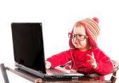 Little hacker — Stock Photo