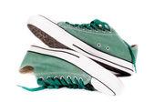Zapatillas verdes — Foto de Stock