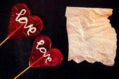Love and paper — Zdjęcie stockowe