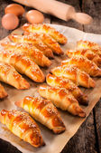 Mini croissants — Stock Photo