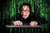 Cyber man — Stock Photo