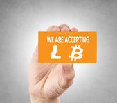 Litecoin and bitcoin — Stock Photo
