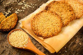 Sesame cookies — Stock Photo