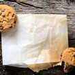 Chip cookies and paper — Stock Photo #41381323