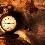 Golden pocket watch — Stock Photo