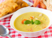 Spring soup — Stock Photo