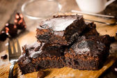 Yummy brownies — Stock Photo