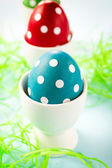 Dotted eggs — Stock Photo