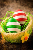 Decorated Eastern eggs — Stock Photo