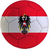 Football ball with Austrian flag — Stock Photo
