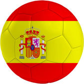 Football ball with Spain flag — Stock Photo