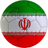 Football ball with Iran flag — Stock Photo