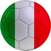 Football ball with Italian flag — 图库照片