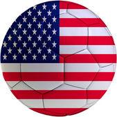 Football ball with American flag — 图库照片