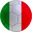 Football ball with Italian flag — Stock Photo #43702791