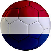 Football ball with Dutch flag — Stock Photo