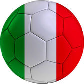 Football ball with Italian flag — Stok fotoğraf