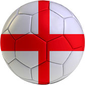 Football ball with England flag — Stock Photo