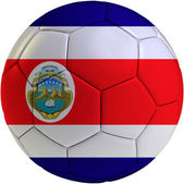 Football ball with Costa Rica flag — Stock Photo
