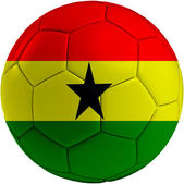 Football ball with Ghana flag — Stock Photo