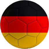 Football ball with German flag — Stock Photo
