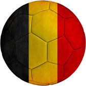 Football ball with Belgium flag — Stock Photo