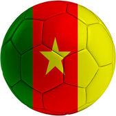 Football ball with Cameroon flag — 图库照片