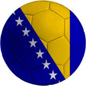 Football ball with Bosnia and Herzegovina flag — Stock Photo