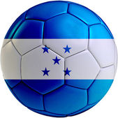 Football ball with Honduras flag — Stock Photo