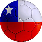 Football ball with Chilean flag — Stock Photo