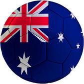 Football ball with Australian flag — 图库照片