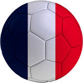 Football ball with France flag — ストック写真