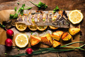 Prepared mackerel fish — Stock Photo