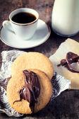 Coffee and homemade cookies — Stock Photo