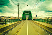 Old tram bridge — Stock Photo