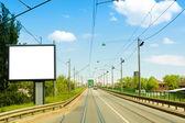 Blank city billboard — Stock Photo
