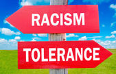 Racism and tolerance — Stock Photo