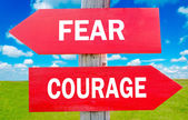 Fear and Courage — Stock Photo