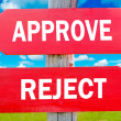 Approve and Reject — Foto de Stock