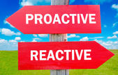 Proactive and reactive — Stock Photo