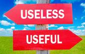 Useless and usefull — Stock Photo