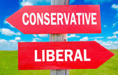 Conservative or liberal — Stock Photo