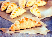 Baked croissants — Stock Photo