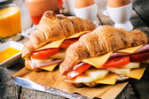 Croissants sandwich — Stock Photo