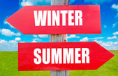 Winter or summer — Stock Photo