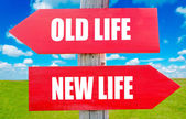 Old and new life — Stock Photo