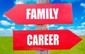 Family and career — Stock Photo