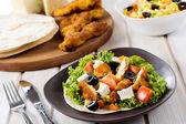 Tortilla and chocken meat — Stock Photo