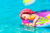 Baby relaxing and sleeping — Stock Photo