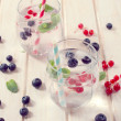 Soda water with berry fruits — Stock Photo #48638165